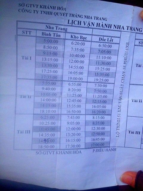Расписание городского автобуса Нячанга на Зоклет: