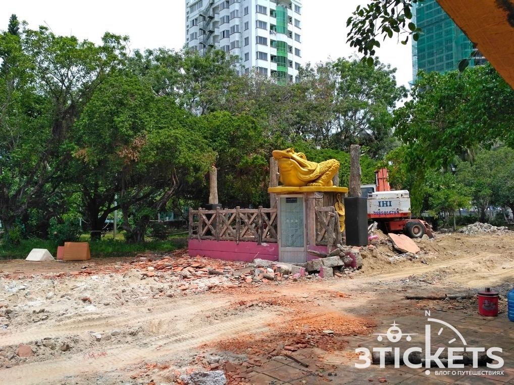 Парк Горького в Нячанге: ремонт в 2017 году