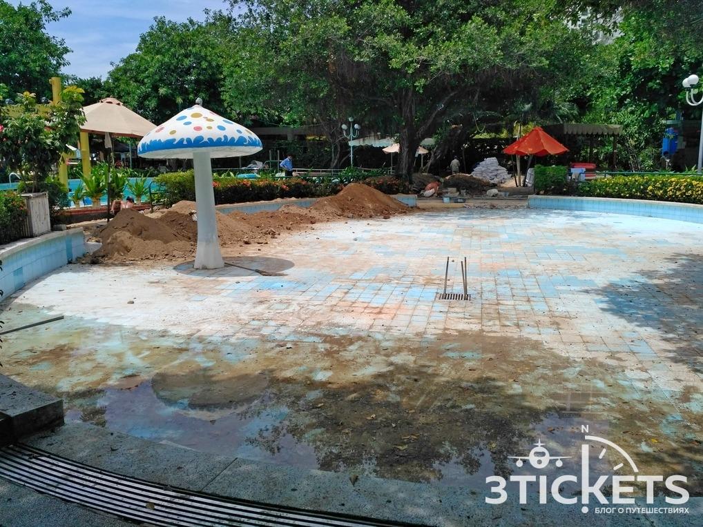 Бассейны в парке Горького в Нячанге: ремонт в 2017 году