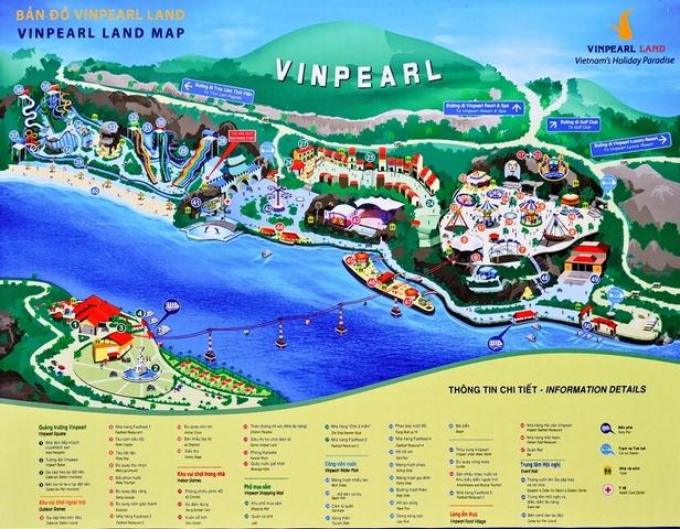 Карта острова Винперл в Нячанге