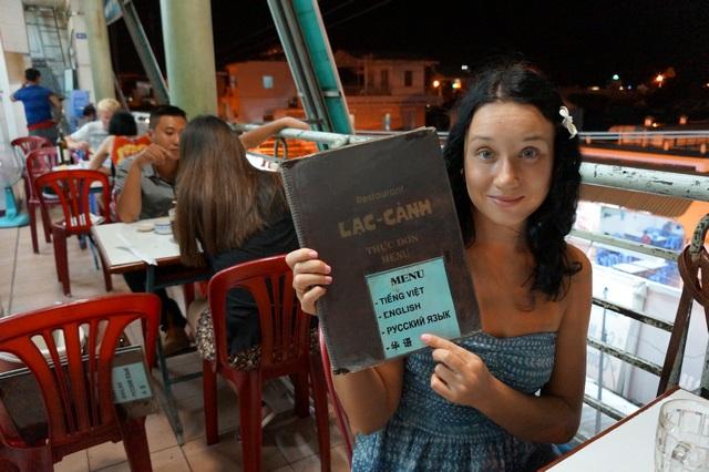 Меню на русском языке во Вьетнаме