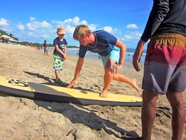 Обучение серфингу на Бали