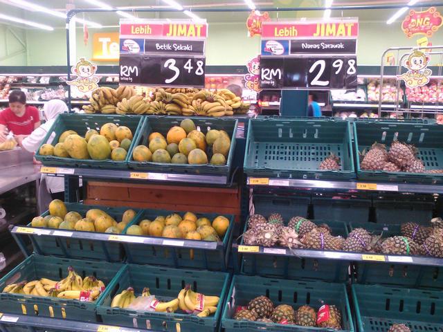 Папайа $0,84 и ананасы $0,72 за кг