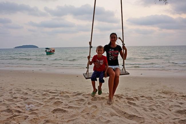 Пляж Отрес в Сиануквиле (Камбоджа)