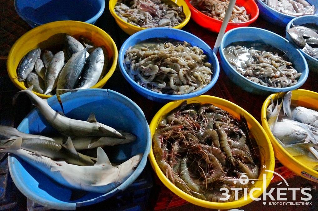морепродукты на гоа с фото