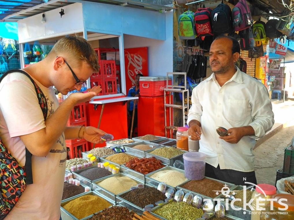 Индийские специи на рынке