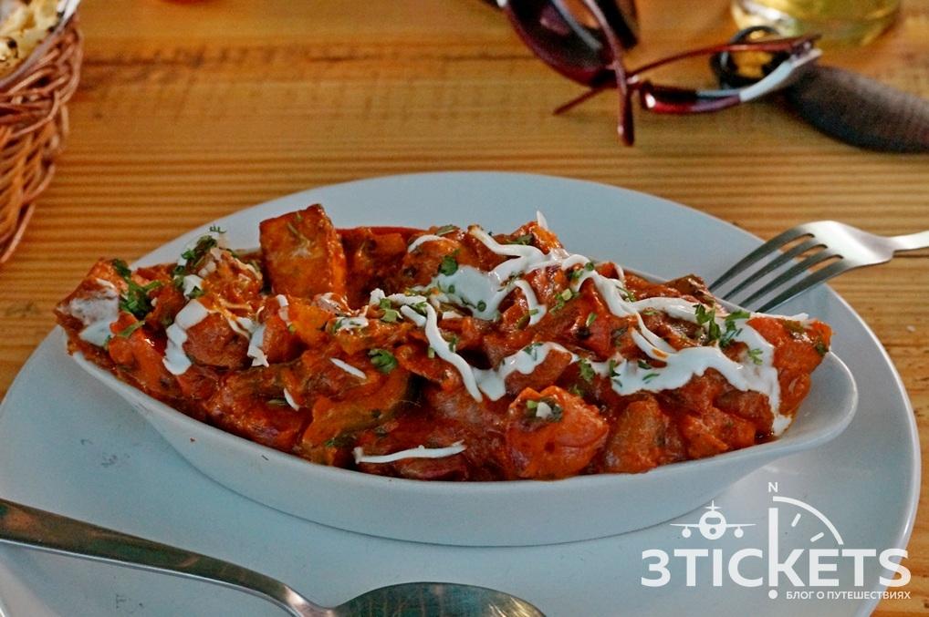 Индийское блюдо Палак Панир