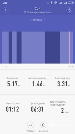 Контроль сна Xiaomi Mi Band 2