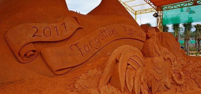 Парк песчаных скульптур вФантьете: невероятное, созданное руками человека