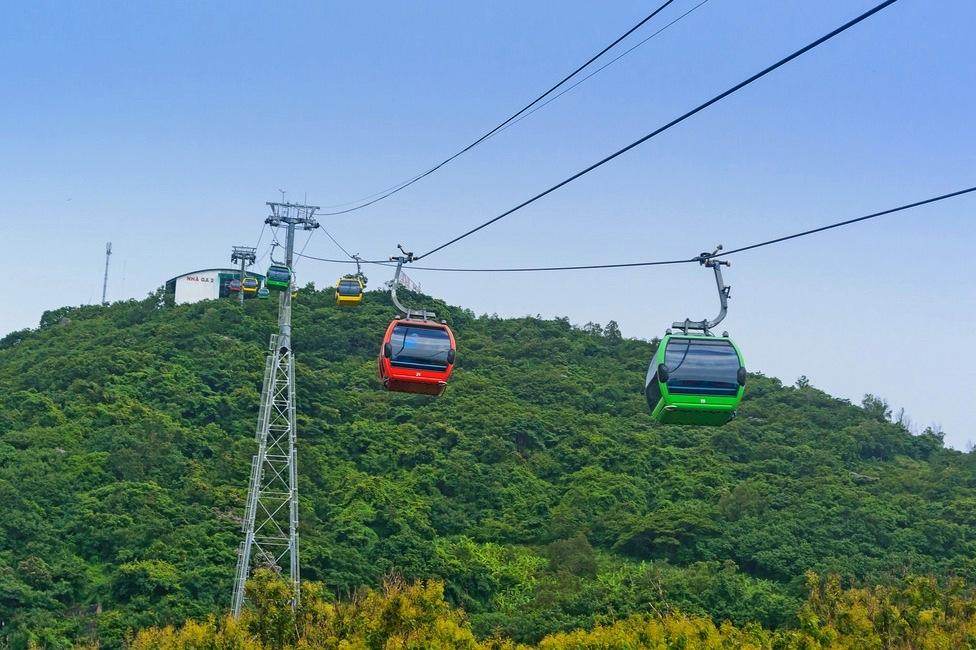 Парк развлечений Sky park сканатной дорогой в Вунгтау