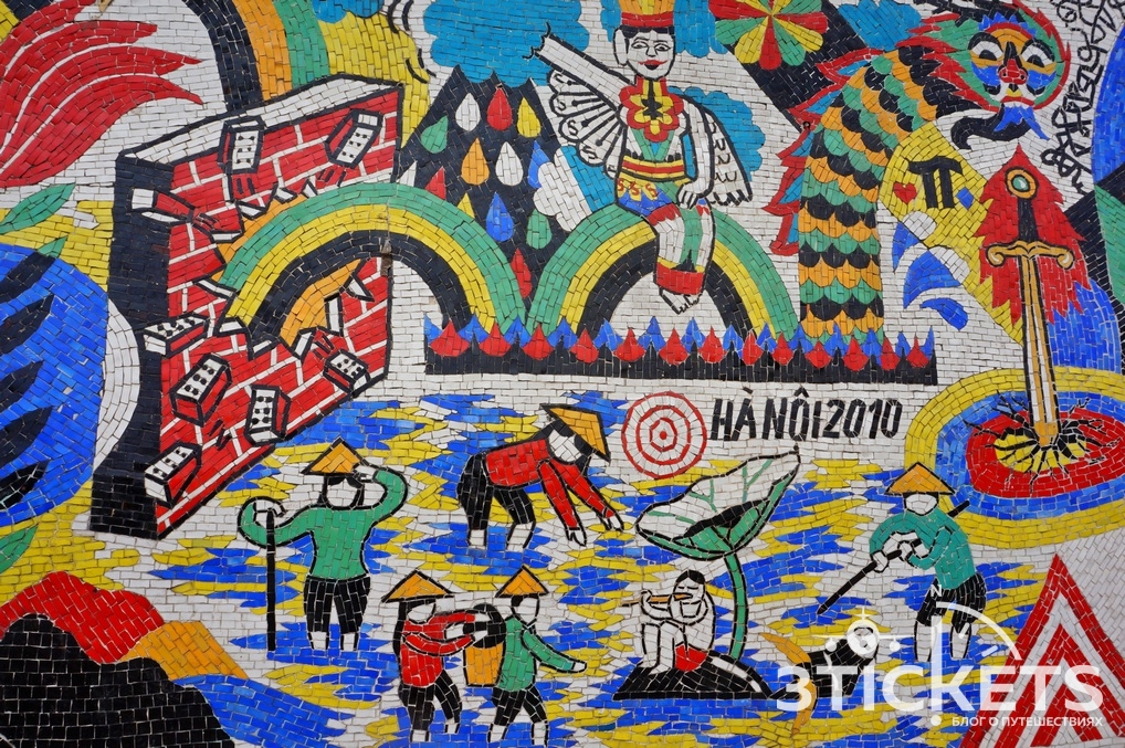 Что посмотреть в Ханое: самая длинная в мире стена из мозаики