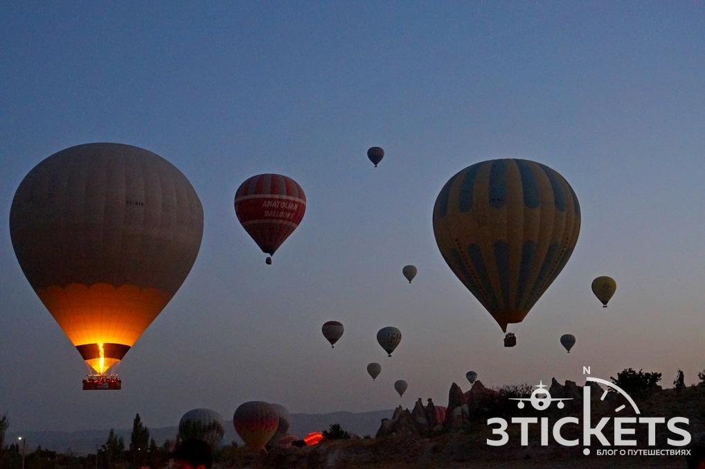 Воздушные шары в Каппадокии (Турция)