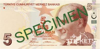 Как выглядит турецкая лира