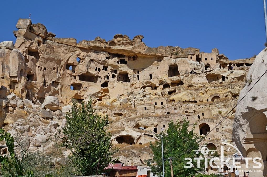 Крепость Чавушин в Каппадокии, Турция