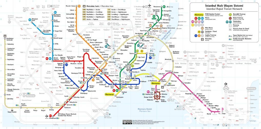 Карта автобусов Стамбул