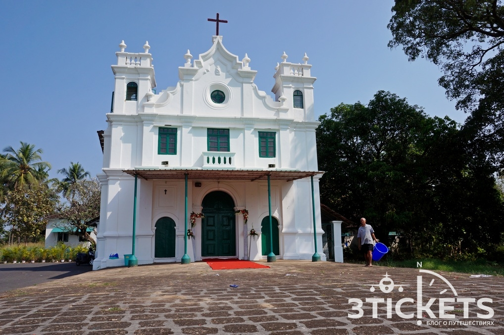 Церковь на горе Монте Хилл в Маргао