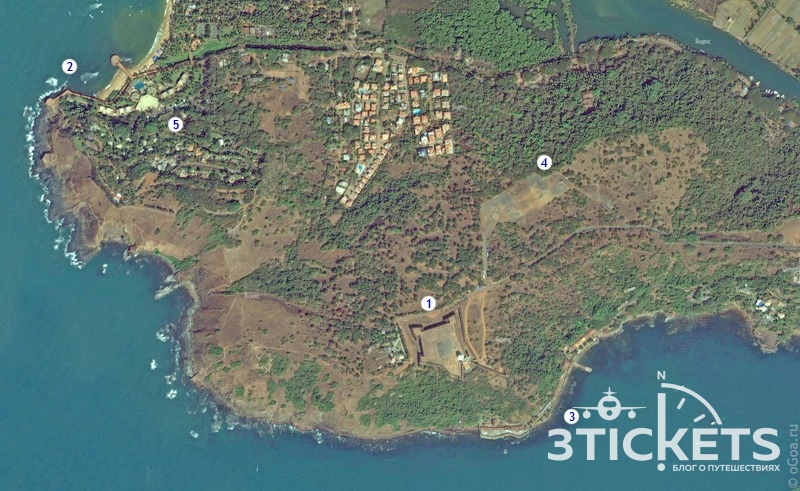 Форт Агуада, Гоа: тюрьма, отель, вертолетная площадка
