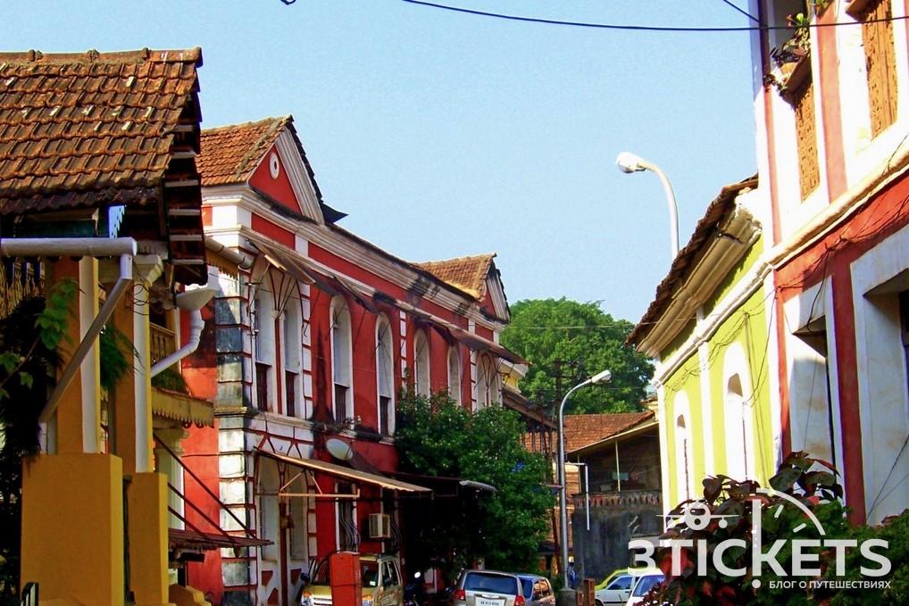 Панаджи, Гоа, португальские улицы