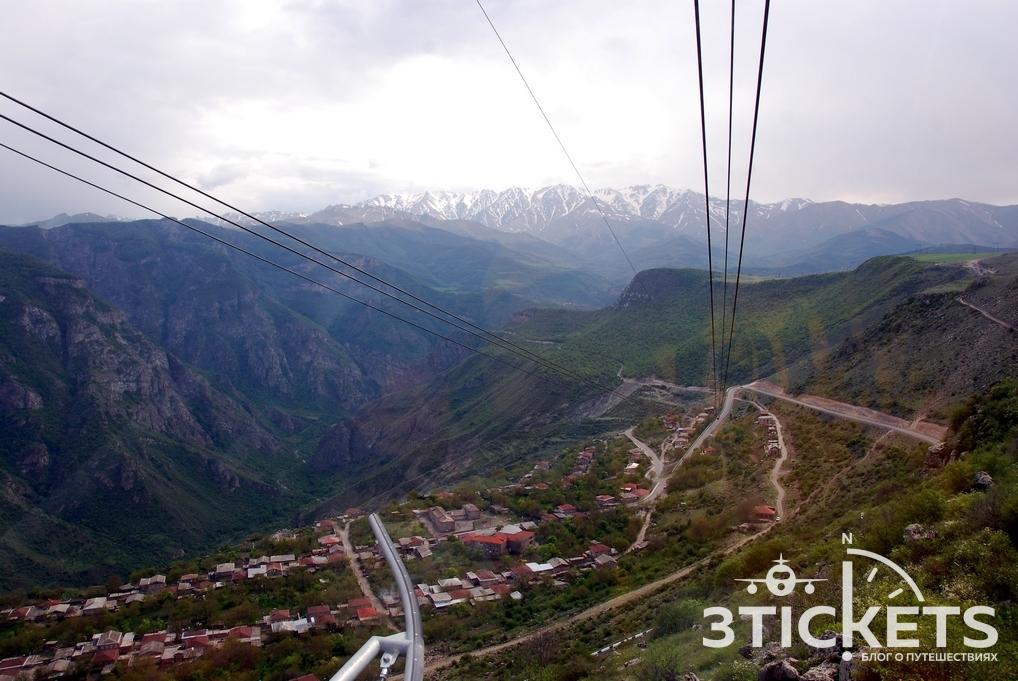 """Канатная дорога """"Крылья Татев"""" в Армении"""