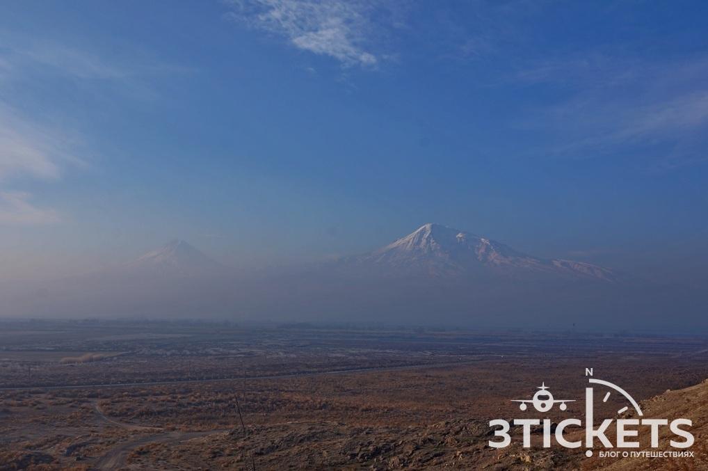Фото горы Арарат со стороны Армении
