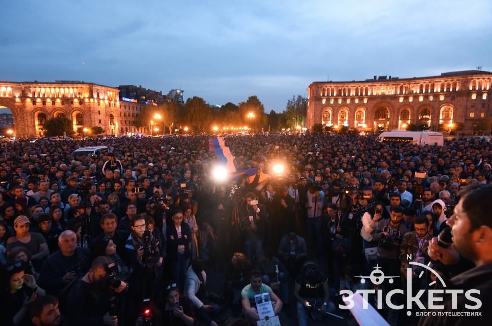 Митинги в Ереване