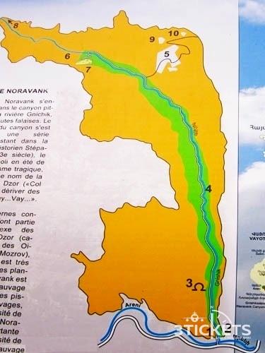 Монастырь Нораванк на карте