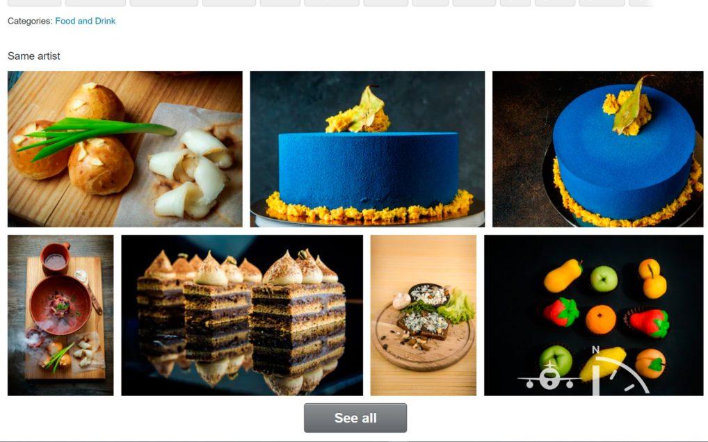 Тема еды на микростоках