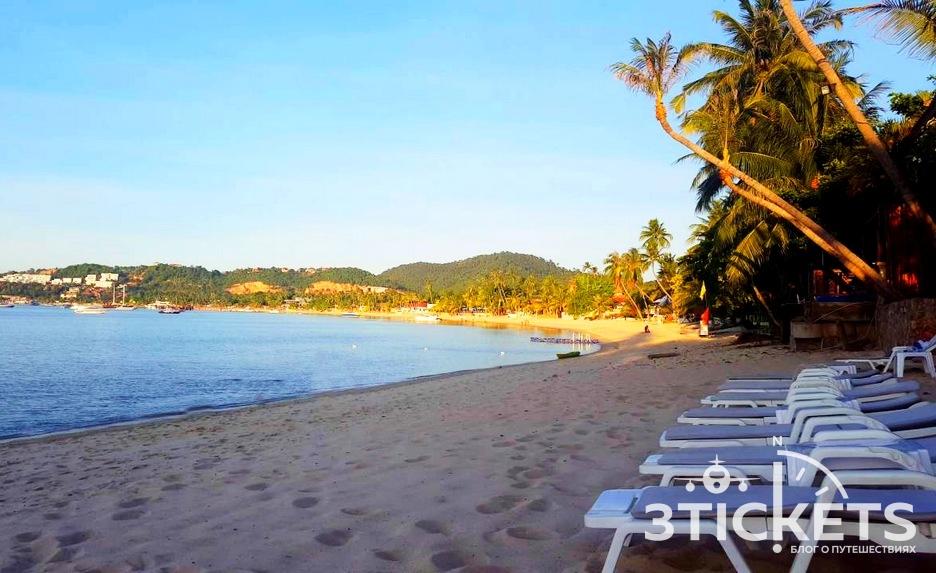 Пляж Банграк (Bang Rak) на острове Самуи, Таиланд