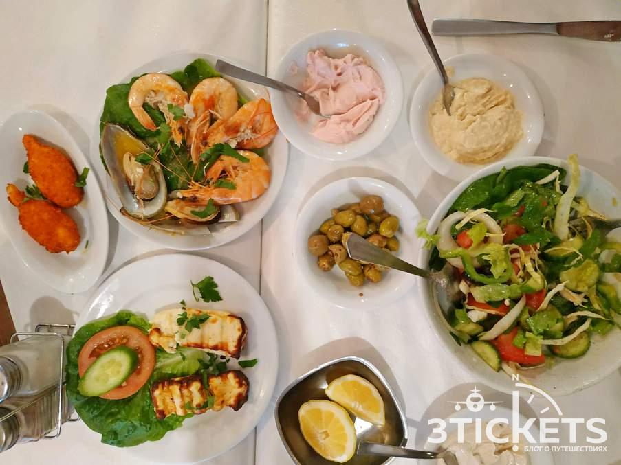 Националдьное блюдо на Кипре - мезе