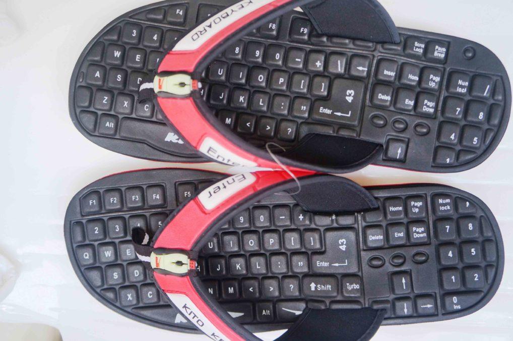 Шлепки-клавиатура