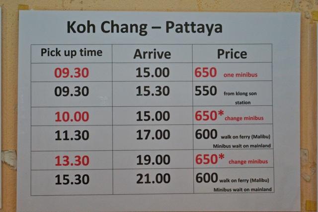 Как добраться с Ко Чанга до Паттайи: цены