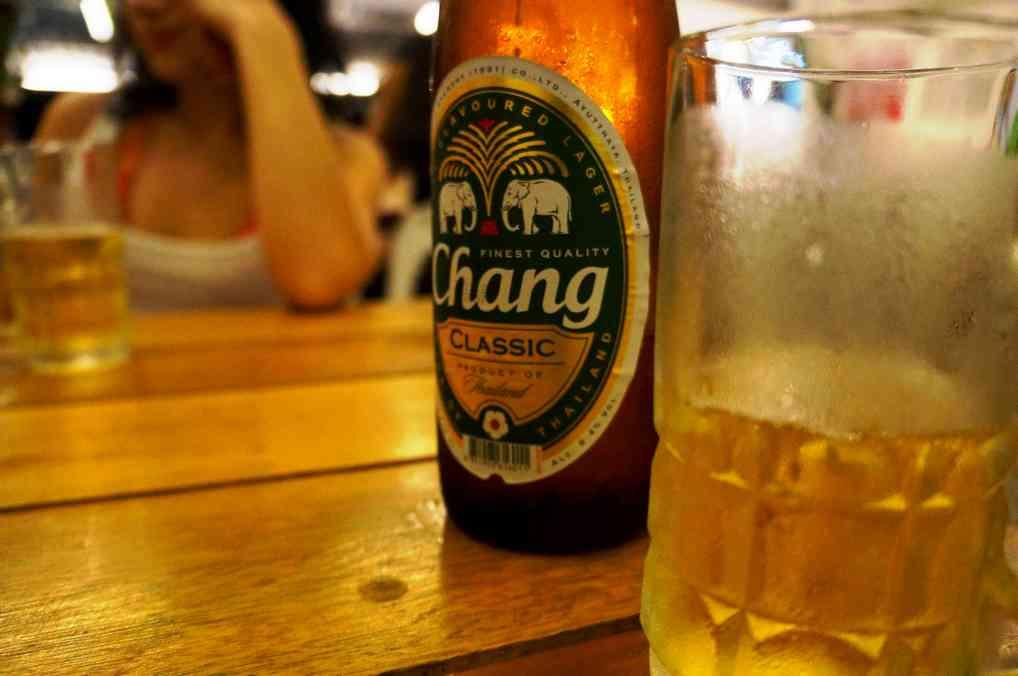 Пиво Chang в Таиланде