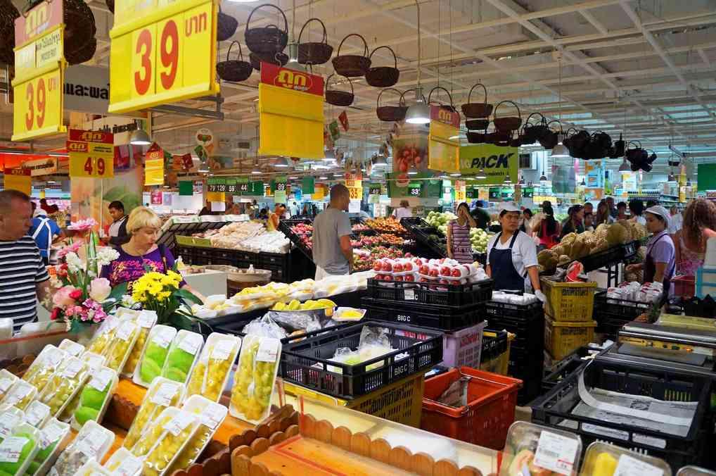 Овощной рынок в Паттайе