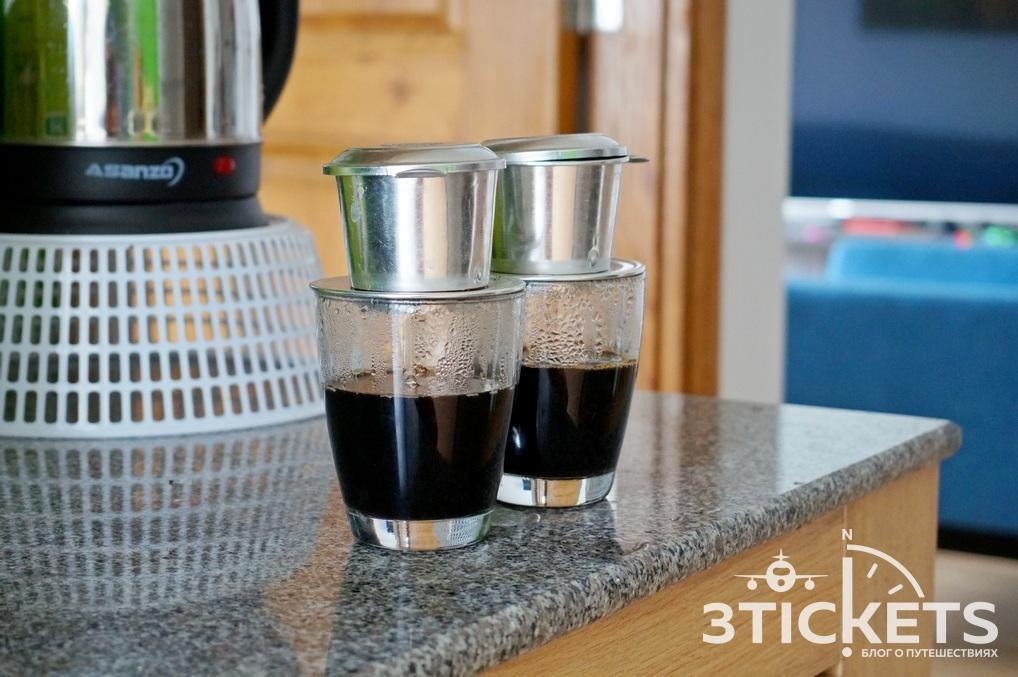 Вьетнамский кофе с капельницей