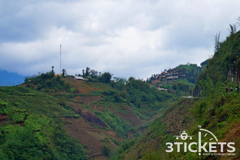 Рисовые террасы в горах