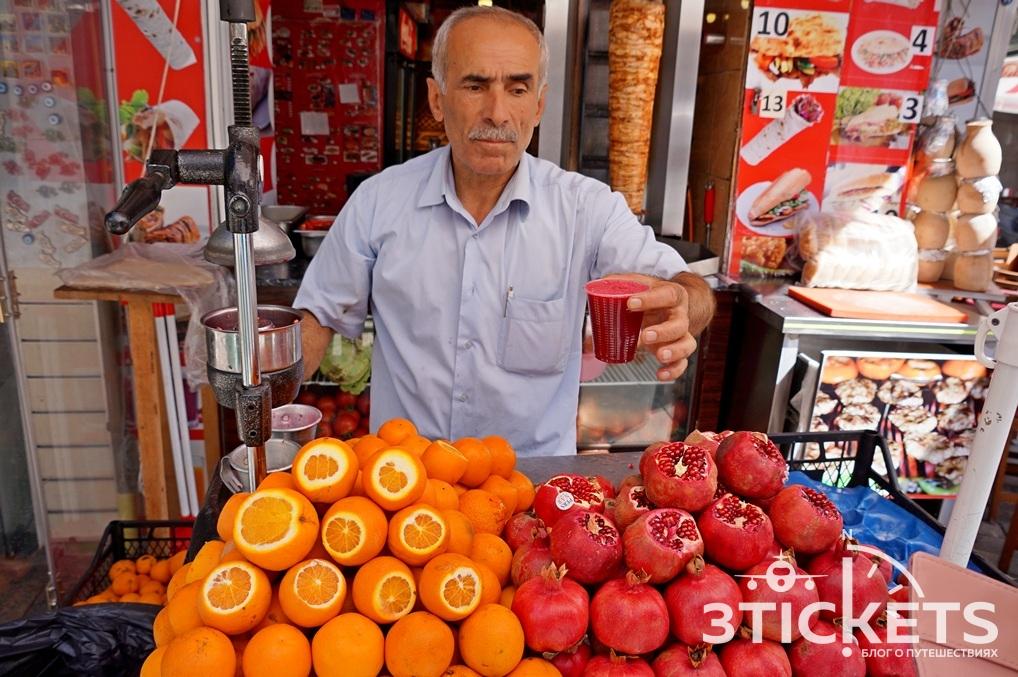 Гранатовый и апельсиновый сок