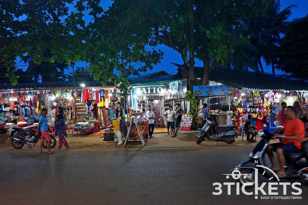 Магазины в Колве, Гоа