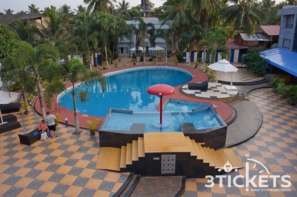 Сильвер Сэндс (Silver Sands Beach Resort) в Колве, Южное Гоа,