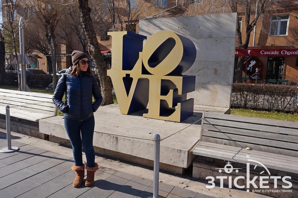 Достопримечательности Еревана зимой: Каскад