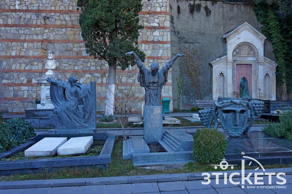 Пантеон на горе Мтацминда в Тбилиси