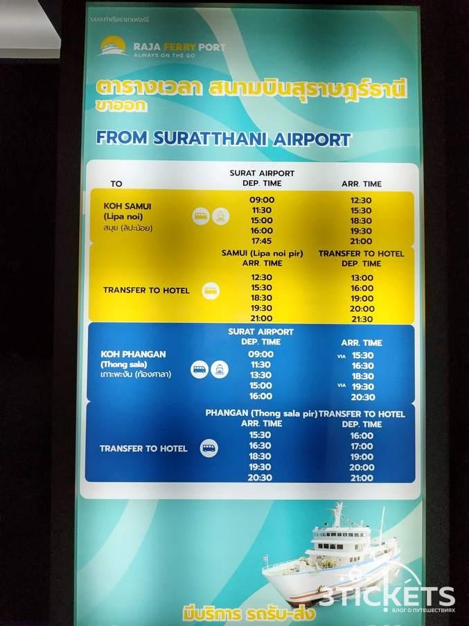 Как добраться из Бангкока на Самуи дешево: паром из Сураттани