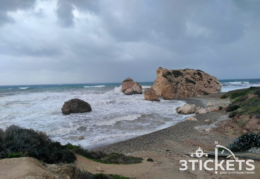 Достопримечательности Пафоса на Кипре: Место рождения Афродиты (Петра-ту-Ромиу)