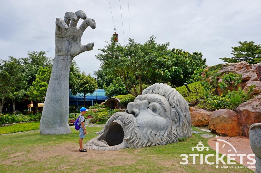 Парк «Дрим Ворлд» в Бангкоке: канатная дорога