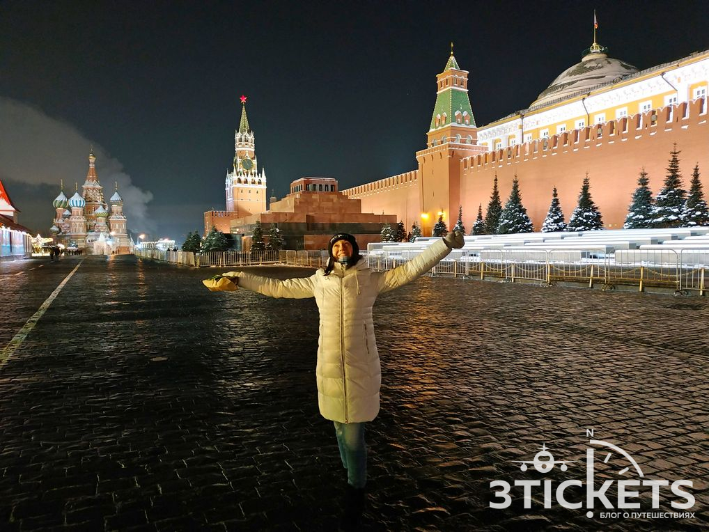 Красная площадь в январе