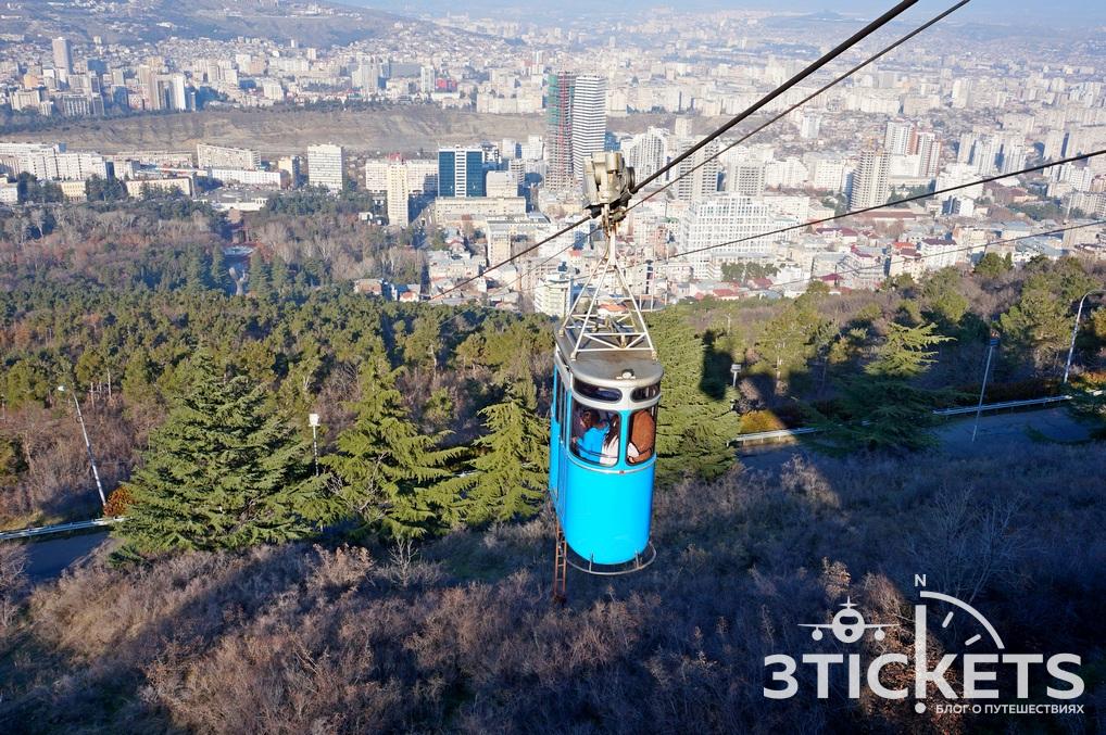 Метро в Тбилисси: канатная дорога